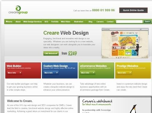 https://www.creare.co.uk website