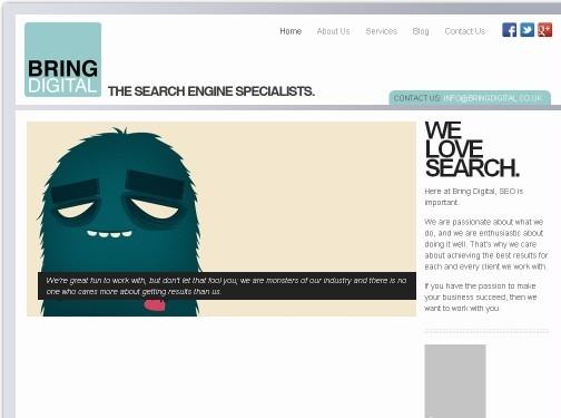 https://www.bringdigital.co.uk/ website